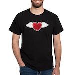Winged Heart Couples Dark T-Shirt