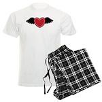 Winged Heart Couples Men's Light Pajamas