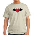 Winged Heart Couples Light T-Shirt