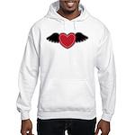 Winged Heart Couples Hooded Sweatshirt