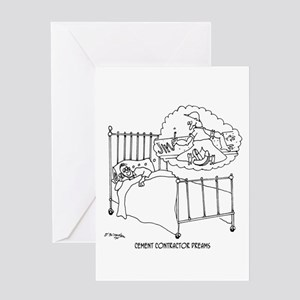 Cement Worker's Dreams Greeting Card