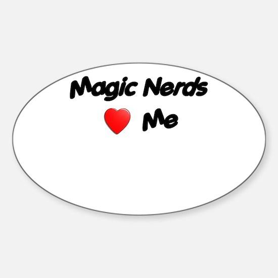 Magic Nerds (heart) Me Sticker (Oval)