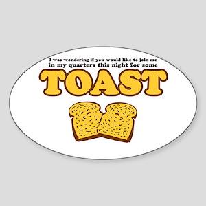 Nacho - Toast Oval Sticker