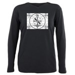 The Indian Head Test Pattern Plus Size Long Sleeve