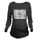 The Indian Head Test Pattern Long Sleeve Maternity
