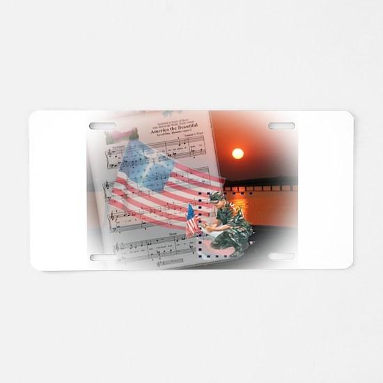 A Soldier's Prayer Aluminum License Plate
