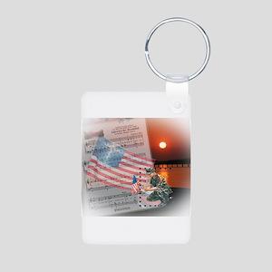 A Soldier's Prayer Aluminum Photo Keychain