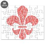 FleurDeLisRed Puzzle