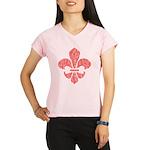 FleurDeLisRed Performance Dry T-Shirt
