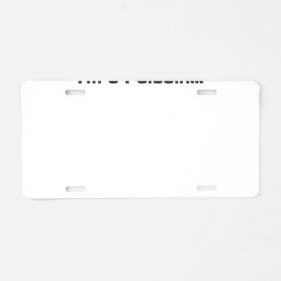 Paladin Aluminum License Plate