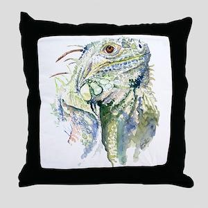 Rex the Iguana Throw Pillow