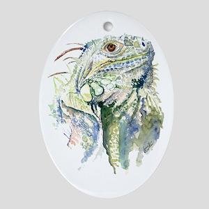 Rex the Iguana Ornament (Oval)