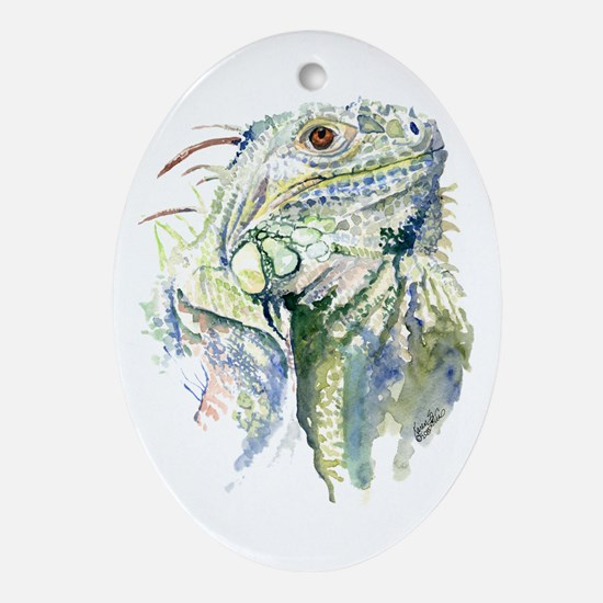 Rex the Iguana Ornament (Oval)