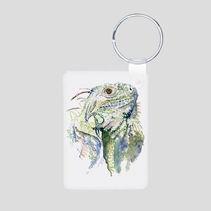 Rex the Iguana Aluminum Photo Keychain