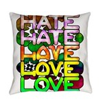 hate2love color Everyday Pillow