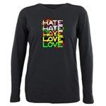 hate2love color Plus Size Long Sleeve Tee