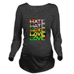 hate2love color Long Sleeve Maternity T-Shirt