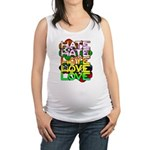 hate2love color Maternity Tank Top