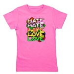 hate2love color Girl's Tee