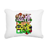 hate2love color Rectangular Canvas Pillow