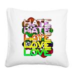 hate2love color Square Canvas Pillow