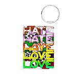 hate2love color Aluminum Photo Keychain