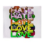 hate2love color Throw Blanket