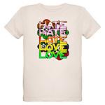 hate2love color Organic Kids T-Shirt