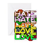 hate2love color Greeting Cards (Pk of 20)