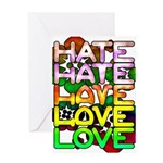 hate2love color Greeting Card
