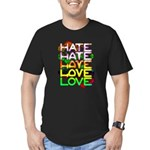hate2love color Men's Fitted T-Shirt (dark)