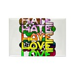 hate2love color Rectangle Magnet (100 pack)