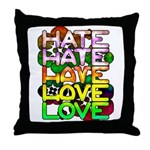 hate2love color Throw Pillow