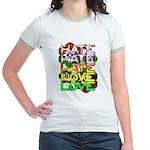 hate2love color Jr. Ringer T-Shirt