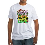 hate2love color Fitted T-Shirt