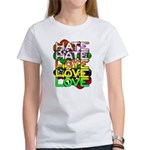 hate2love color Women's Classic White T-Shirt