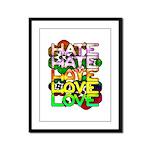hate2love color Framed Panel Print