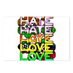 hate2love color Postcards (Package of 8)