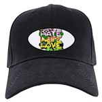 hate2love color Black Cap with Patch