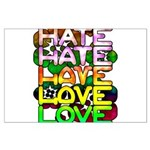 hate2love color Large Poster