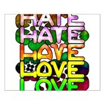 hate2love color Small Poster