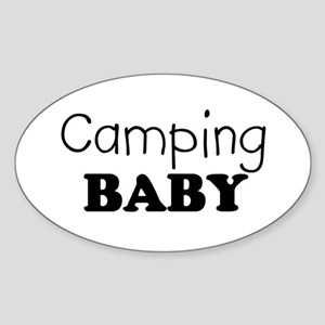 Camping baby Oval Sticker