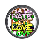 hate2love color Wall Clock