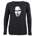 Mona Lisa Halftone Face White Plus Size Long S