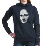 Mona Lisa Halftone Face White Women's Hooded S