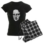 Mona Lisa Halftone Face White Women's Dark Paj