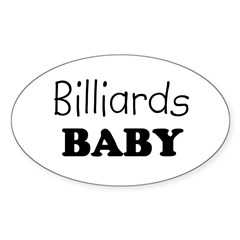 Billiards baby Oval Decal