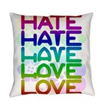 hate2love color2 Everyday Pillow