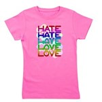 hate2love color2 Girl's Tee