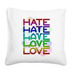 hate2love color2 Square Canvas Pillow